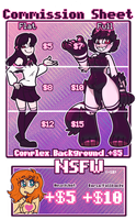 Commission Sheet V2 [CLOSED] by PanicPeng