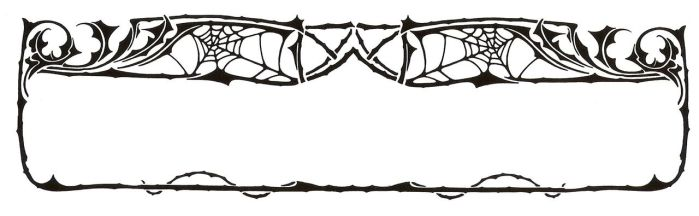 Art Nouveau Spider Web Border by Enchantedgal-Stock