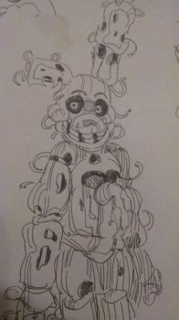 Springtrap sketch 3 by Mewnixx