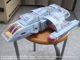 Star Trek DS9 papercraft runabout by ninjatoespapercraft