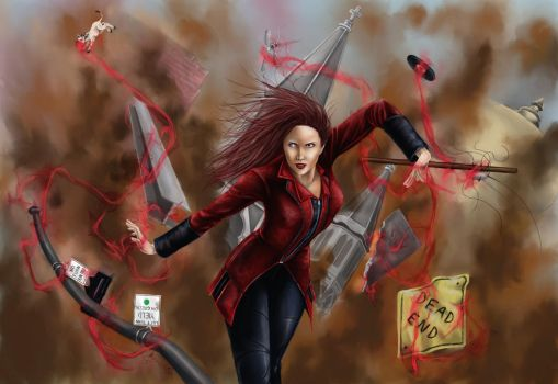 Scarlet Witch Request by GreenGosselin