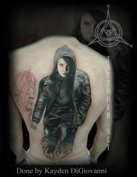 Girl with the Dragon tattoo backpiece by kayden7