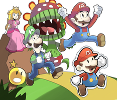 Mario and Luigi: Paper Jam Bros. by AlSanya