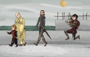 Tyrion and Company (Game of Thrones) by SmudgeThistle