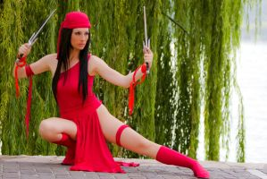 Elektra red dangerous ninja by Giorgiacosplay