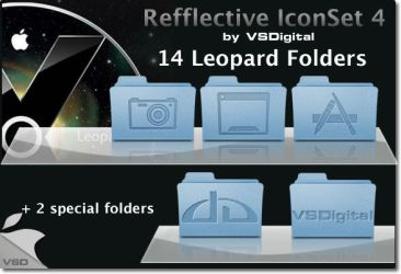 Leopard Refflective IconSet 4 by vsdigital