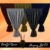 Drapery Set 01 by CntryGurl-Designs