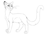Free To Use Cat Line Art by Anubis-hound