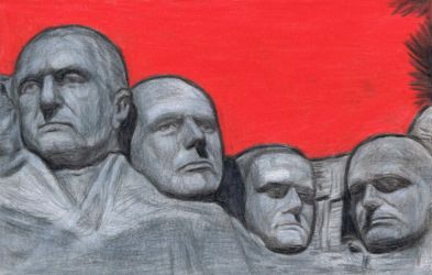 Kraftwerk on Mt Rushmore by gagambo