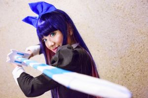 Stocking with Stripes Sword by firecloak