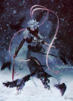 Warrior in snow by akaryu96
