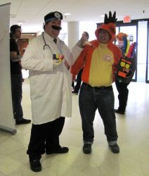 Dr. Mario and Crash Bandicoot by MLBlue