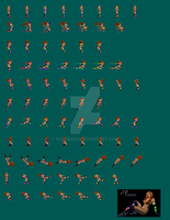 Jet Dancer Sprite Sheet by Dualmask