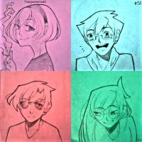 Kids on notes by ayaka859