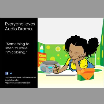 Everyone Loves Audio Drama -Child Coloring by Mattleong13
