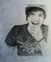 Anthony Padilla laughing by drawingsandstuff