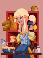 Bakery witch by gintonicbb