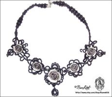 Gothic Roses necklace by BaziKotek