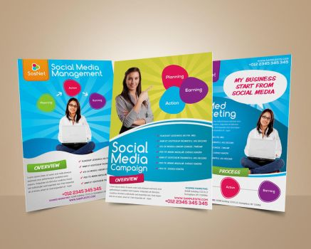 Social Media Marketing Flyer by afizs