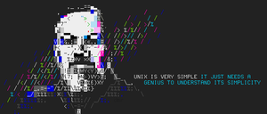 unix / guy ritchie ansii banner by siliconSwordz