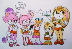 Sonic FORCES you to work at Hooters by PilloTheStar