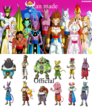 Gods of Destruction Fan Made vs Official by horaciosi