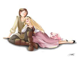 Eilonwy and Taran... by SilverCatseyes