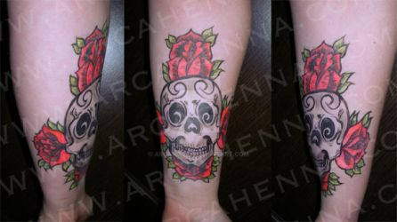 skull and roses by arcanoide