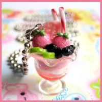 Strawberry Parfait Necklace 2 by cherryboop