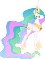 Unhappy Princess Celestia by CloudyGlow