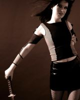 Girl with Sword Stock 2 by kristyvictoria