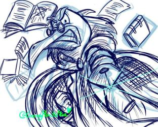 Doodle Archives: Madly Professor Codex by CrazyPlantMae