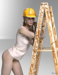 the girl in the yellow hard hat by Andrey-A-M