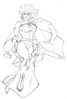 power girl boceto by nannel
