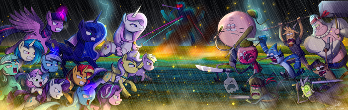 .:EPIC BATTLE!!:. (redraw) by The-Butcher-X