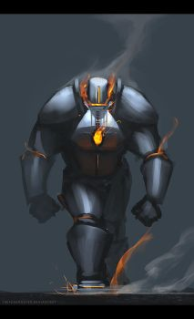 Fire golem by TheFearMaster