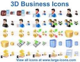 3D Business Icons by Ikonod