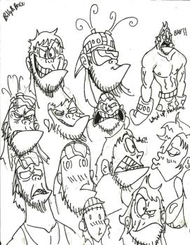Billy B. Brice sketches by Loko-Motion