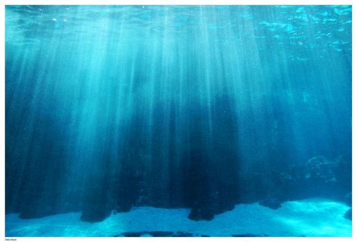 Underwater Light Rays by Della-Stock