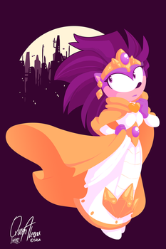 Hedgehog Queen by raygirl