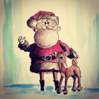 Merry Christmas! From: Santa and Rudolph by LordColinOneal