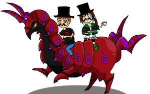Riding a Scolipede... Like a Sir by SuperMandarine