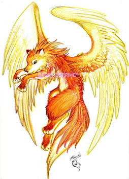 Winged Fox by FiareFox