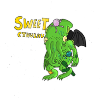Sweet Cthulhu (coloring test) by HappyMasky