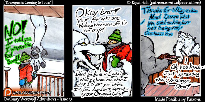 OWA Issue 35 - Krampus is Coming to Town by Kigai-Holt