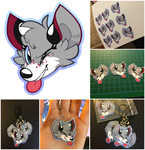NeonWishes7 Charm Commission (Vector, Laminated) by TawnySoup