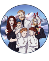 Rozees Family Portrait by Evanyell