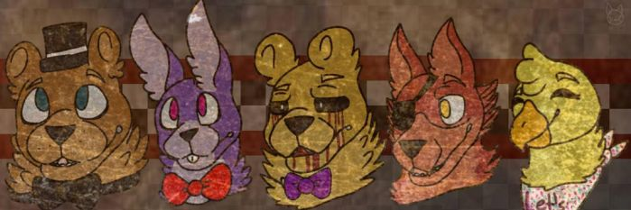 Five nights at freddy's gang (How i draw them) by CococatXo