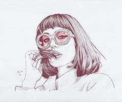 Portrait of Amy Roiland by prinsepolo