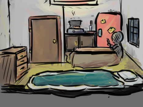 small room doodle by Absolaaron